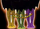 HALLOWEEN - FUN CHILD STRIPED WITCH TIGHTS PURPLE